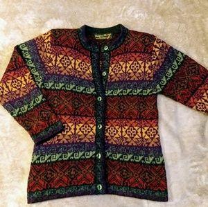 100% Alpaca Cardigan Sweater Designer threads S